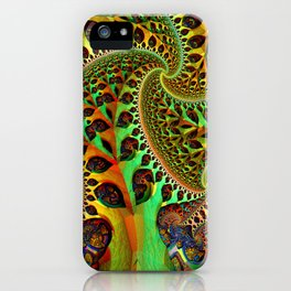 the fractal tree iPhone Case