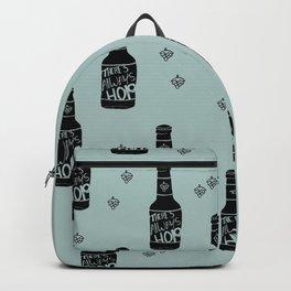 There's always hope beer bottle hop love ocean green Backpack
