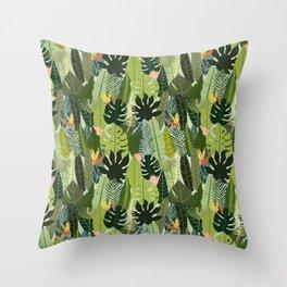 Green On Pattern Throw Pillow