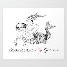 Capricorn Zodiac Star Sign Art Print