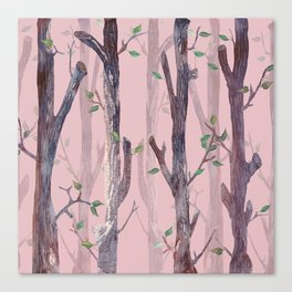 Forest Pink Canvas Print