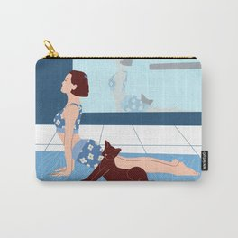 Yoga with a cat Carry-All Pouch