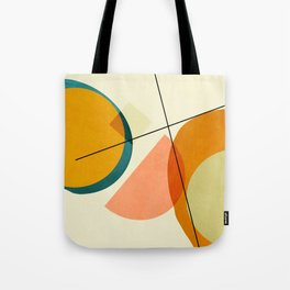 mid century geometric shapes painted abstract III Tote Bag