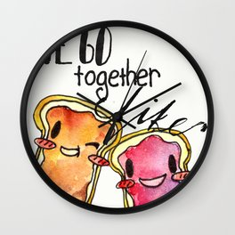 We Go Together like Peanut Butter and Jelly Wall Clock
