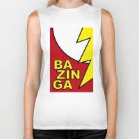 bazinga Biker Tanks featuring Bazinga by Bazingfy