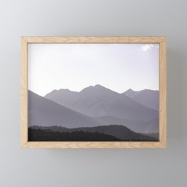 Rocky Mountain Sunset - Colorado Nature Photography Framed Mini Art Print