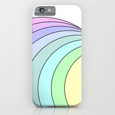 rainbow pastel iPhone 6s Slim Case