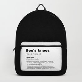 Bee's knees dictionary Backpack