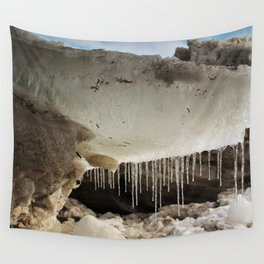 T Rex in Ice Wall Tapestry