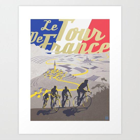 Le Tour de France retro poster by sassanfilsoof