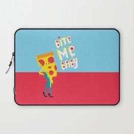 pizza - bite me baby Laptop Sleeve