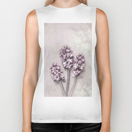 Delicate Hyacinths Biker Tank