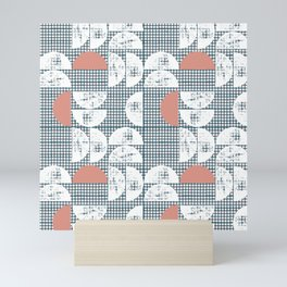 Mid-Century Check Pattern Mini Art Print