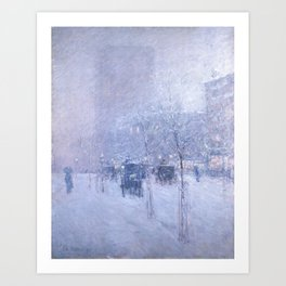 Late Afternoon, New York, Winter by Childe Hassam Art Print