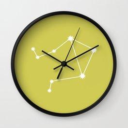 Libra Zodiac Constellation - Vibrant Green Wall Clock