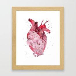 My Mushy Heart Framed Art Print