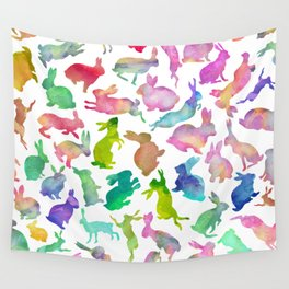 Watercolour Bunnies Wall Tapestry