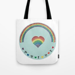 Rainbow Heart LGBTQ Pride Tote Bag