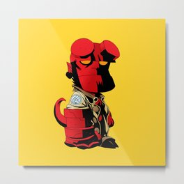 The Hero From Hell Metal Print