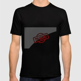 Top Secret Half Covered Ink Stamp T-shirt