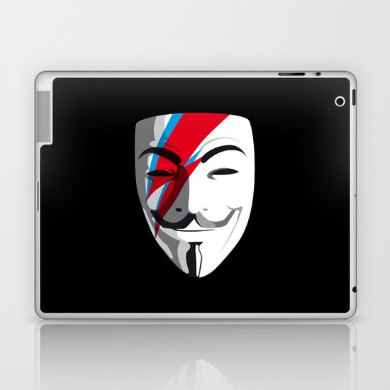 Who wants to be Anonymous? Let's be Fabulous! Viggy Starfawkes. Laptop & iPad Skin