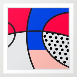Minimal Basketball Hoop Art Print