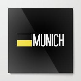 Germany: Münchner Flag & Munich Metal Print