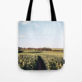 Spring canola field Tote Bag