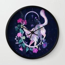 Cosmic Fox Wall Clock