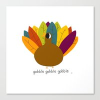 turkey Canvas Prints featuring turkey by katie bokan
