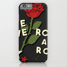 Grunge rock slogan print iPhone Case