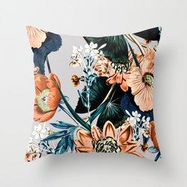 Flowering autumnal botanic Throw Pillow