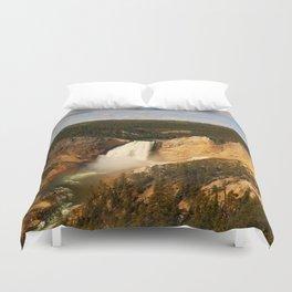 Majestic Yellowstone Upper Falls Duvet Cover