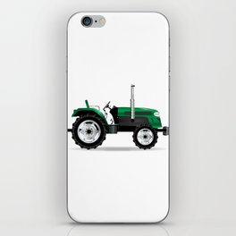 Green Isolated Tractor iPhone Skin