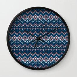 Pattern in Grandma Style #53 Wall Clock