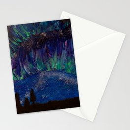 Fading Aurora Stationery Cards