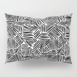 Minimalist Black And White Pattern Pillow Sham