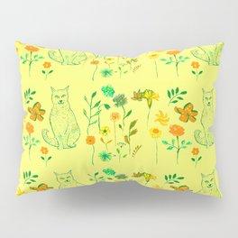 Cat in the garden - Pattern Pillow Sham