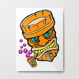 Mr Tiki the bubble blow'n machine Metal Print