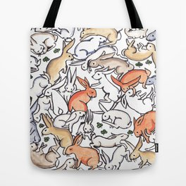 Colour Bunny Pattern Tote Bag