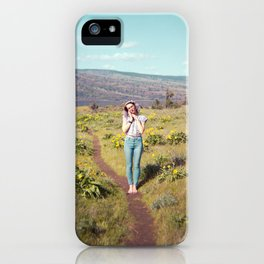 Daydreaming Girl in the Gorge - Rowena Crest Trail in the Columbia River Gorge - Film Photograph iPhone Case