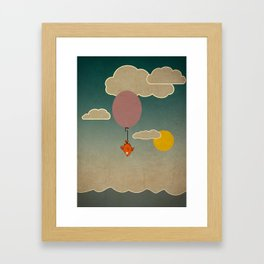 The flying fish Framed Art Print