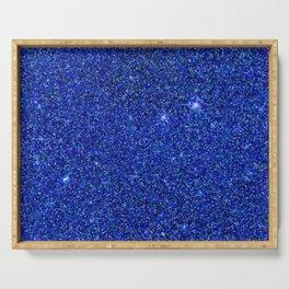 dark blue glitter Serving Tray