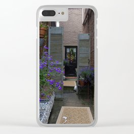 Flowers in the alley Clear iPhone Case