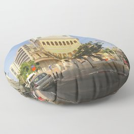 Tel Aviv Pagoda House - Israel Floor Pillow