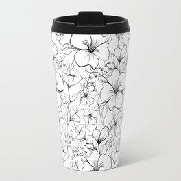 Floral sketch pattern Travel Mug