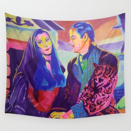 Morticia and Gomez Wall Tapestry