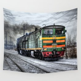 Locomotive (Train in Russia) Wall Tapestry