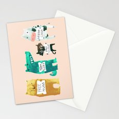 Animal idioms - its a free world Stationery Cards