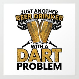 Darts WM Darts Beer Arrow Dartboard Gift Art Print